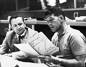 Mercury-Atlas 8 - Image: Schirra and Kraft discussing MA 8 flight plan