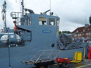 Barbe-class utility landing craft - Schlei at the Kiel Week in 2007.