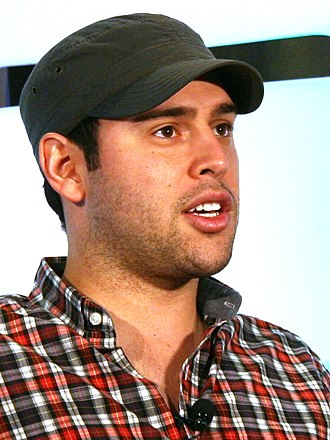 Scooter Braun - Braun on stage at Tech Crunch Disrupt in 2010.