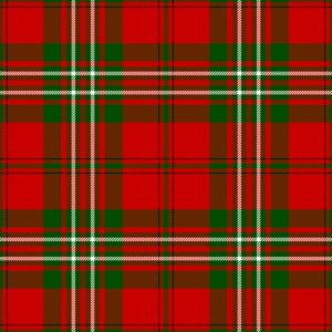 Clan Scott - Scott tartan, as published in 1842 in Vestiarium Scoticum.