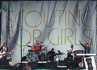 Scouting for Girls - Scouting for Girls in June 2008 during the Glastonbury Festival