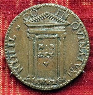 Holy door - Jubilee commemorative medal of Gregory XIII, 1575