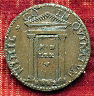 Holy door - Jubilee commemorative medal of Gregory XIII, 1575