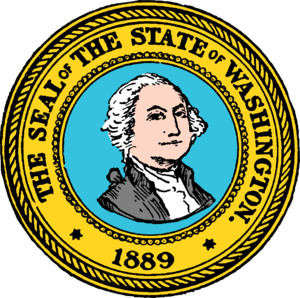 Seal of Washington - Image: Seal of Washington (1889)