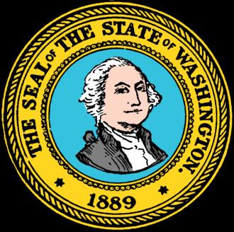 Seal of Washington - Image: Seal of Washington (1889)