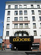 The Moore Theatre has been a performing arts venue in Downtown Seattle since its construction in 1907.