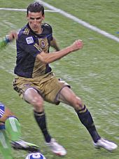 The Union's Le Toux in an action shot in Philadelphia's primary colors