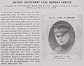 Second Lieutenant Carl Herman Berger died on December 31, 1918 of wounds in action, Company E, 339th Infantry - The History and achievements of the Fort Sheridan officersʾ training camps (IA historyachieveme00fort 1) (page 50 crop).jpg