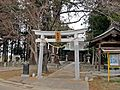 Second torii gate of Sumiyoshi-jinja shrine in Kakuda city.JPG