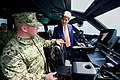 Secretary Kerry Inspects the Operator's Chair of the Navy Riverine Mark VI Boat (25684146523).jpg