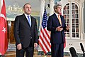 Secretary Kerry and Turkish Foreign Minister Cavusoglu Address Reporters in Washington (26006603632).jpg