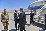 Secretary Pompeo is Greeted by Ambassador Bass and General Nicholson (43305925211).jpg