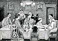 Seder Scene from Chalap's Haggadah (8581730070).jpg