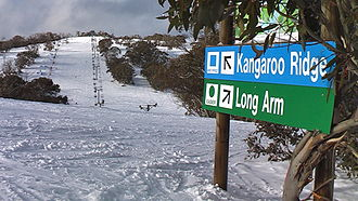 Skiing in Australia - Selwyn Snowfields, July 2011.