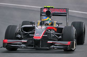 Hispania F110 - Senna retired his reliveried F110 from the Canadian Grand Prix with gearbox problems.