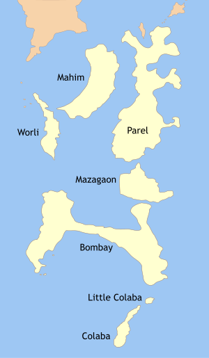 English: The Seven Islands of Bombay (Now Mumb...