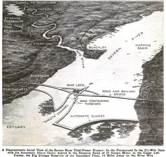 Severn River Tidal Power Project 1921