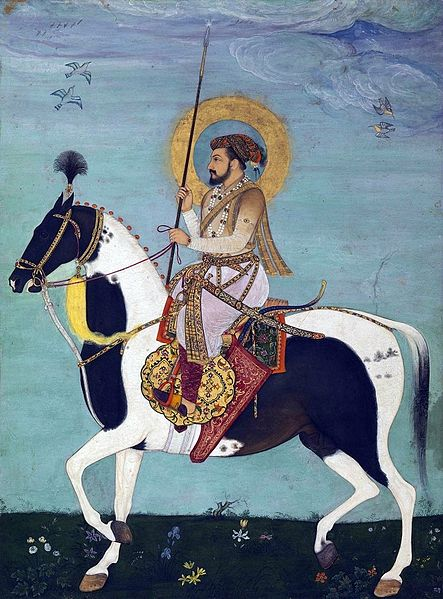 Сурет:Shah Jahan Riding Stallion.jpg