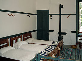 Shakertown bedroom, Pleasant Hill, Kentucky