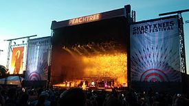 The Peachtree (main) stage at Shaky Knees Music Festival in 2016.