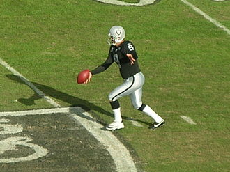 Shane Lechler - Lechler punts at a home game against the Atlanta Falcons in 2008