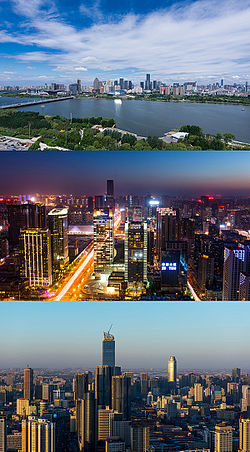 View of Shenyang skyline from the  Hunnan District, View of skyline from the Liaoning Broadcast and TV Tower, View of skyline from the Liaoning Broadcast and TV Tower.