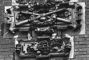 Shibe Park - Bats, balls – even a catcher's mask  – adorned exterior walls in terra cotta casts