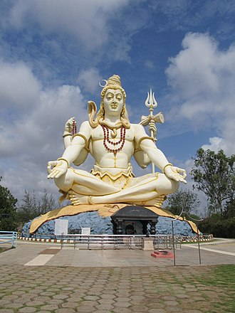 Shivagiri - Lord Shiva statue with temple below