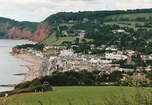Sidmouth in Devon, England.