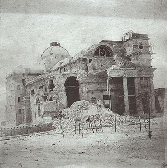 José Luís Mena Barreto (1817–79) - A church heavily damaged during the siege of Paysandú, 1865
