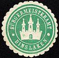 Siegelmarke Bürgermeisteramt - Dinslaken W0226850.jpg