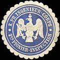 Siegelmarke Königlich Preussische Ingenieur - Corps - 2te Pionier - Inspection W0223982.jpg