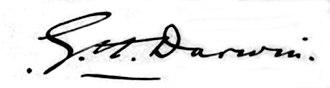 George Darwin - Image: Signature of Sir George Darwin