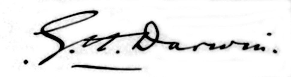 Signature of Sir George Darwin