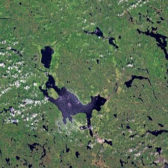 Siljan (lake) - Landsat 7 satellite image
