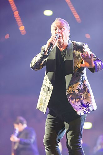 Jim Kerr - Kerr performing with Simple Minds in November 2016.