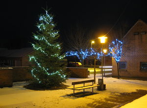 An X-mas tree in Sindal, Denmark