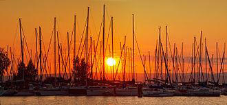Siófok - Siófok at sunset