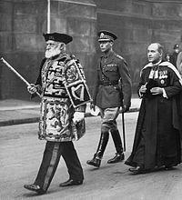 Heralds in procession in 1933