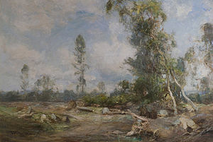 James Lawton Wingate - River landscape painting