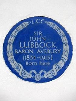 Sir john lubbock baron avebury (1834 1913) born here