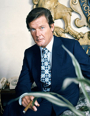 Allan Warren - Warren's portrait of Roger Moore from 1973
