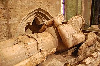 William de Ros, 6th Baron de Ros - Alabaster effigy of William de Ros in St Mary's Church, Bottesford