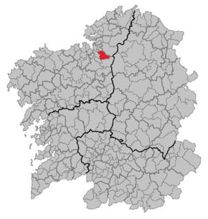 Irixoa - Image: Situacion Irixoa