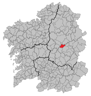O Páramo - Location of O Páramo in Galicia.