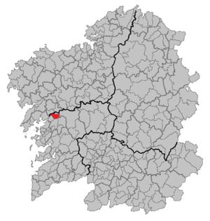 Valga, Pontevedra - Image: Situacion Valga