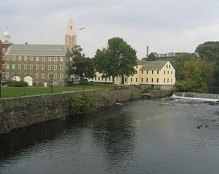 Old Slater Mill, a historic district in Pawtucket, Rhode Island, was the first property listed in the National Register, on November 13, 1966. SlaterMill.JPG