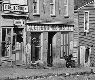 History of slavery in Georgia (U.S. state) - Slave trader's business in Atlanta, Georgia, 1864.