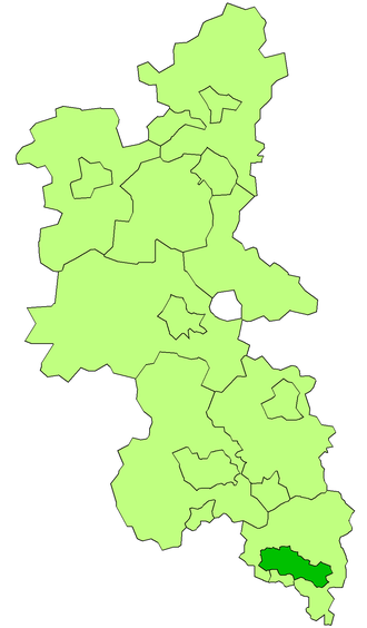 Eton Rural District - Eton RD is the entity above around Slough ( Slough is tinted dark green), but not the small borough directly below it, which is Eton UD.