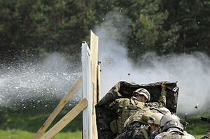 19th Special Forces Group - Image: Slovenian Army Special Operations Soldiers and Soldiers of 5th Battalion, 19th Special Forces Group, Colorado Army National Guard, practice explosive breaching techniques